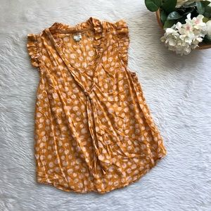 Odille Mustard Floral Blouse